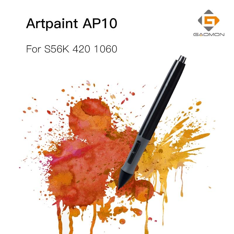 GAOMON profesional tableta gráfica para pluma de dibujo de los niveles de 2048 ArtPaint AP10 Stylus para GAOMON S56K/M106K/Huion 420/1060 Plus