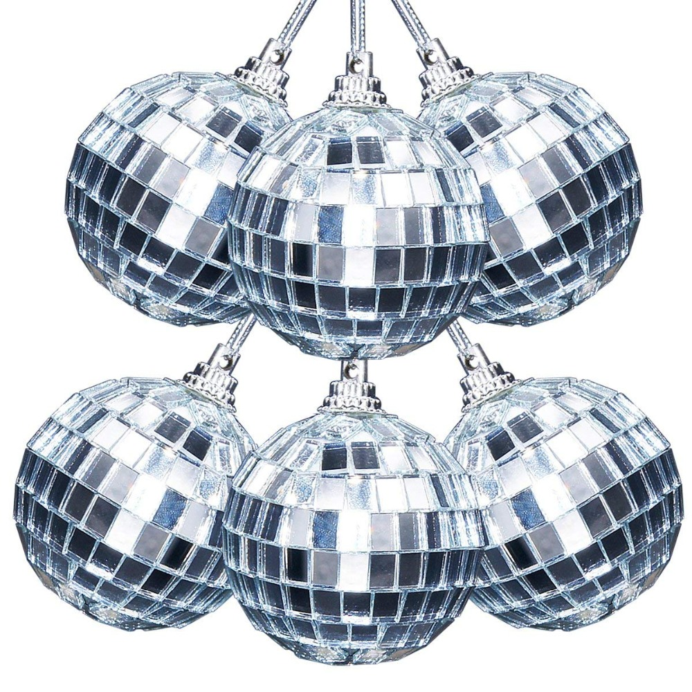 Home & Garden 6pcs/lot 5cm Christmas Balls Christmas Tree Decor Mirror Ball Stage Reflective Ball Hotel Bright Ball Mall Holiday Decoration To Have A Long Historical Standing