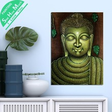 1 Piece Vintage Posters Buddha HD Printed Canvas Wall Art and Prints Poster Painting Framed Artwork Room Decoration