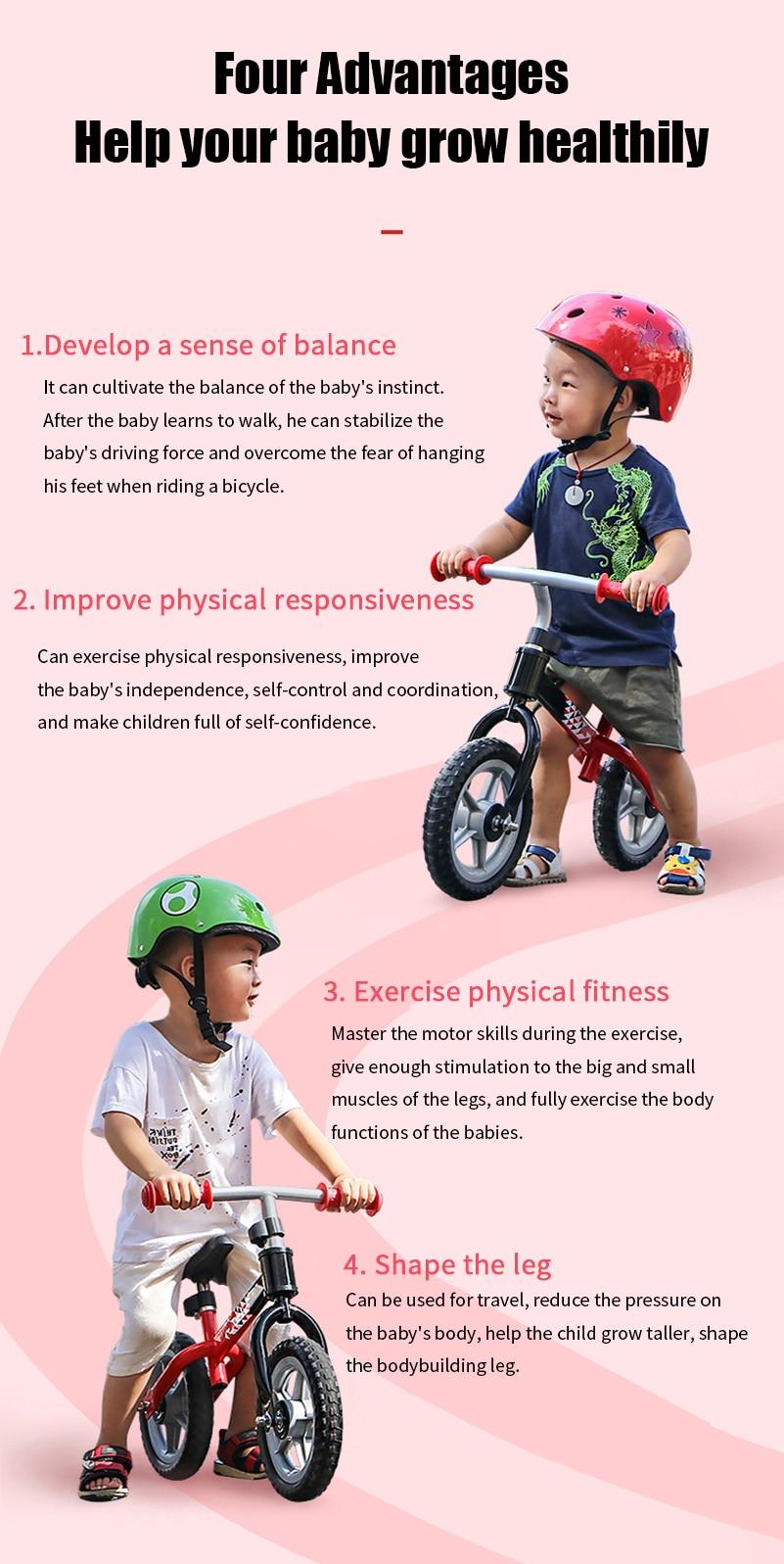 HTB1TWXIacfrK1Rjy1Xdq6yemFXah WEST BIKING Children's Bike Pedal-less Balance Bicycle Balance For 2-4 Years Old Anti-skid Baby Walker Children Balance Bike