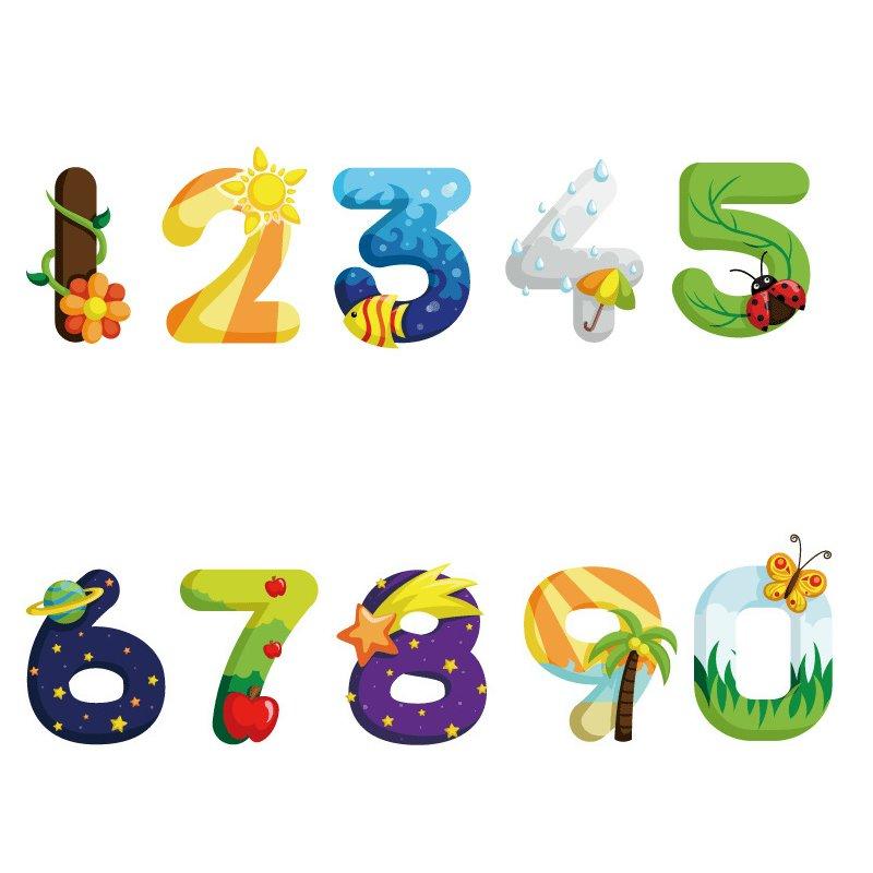 1 Unidades decoración del hogar estilo de dibujos animados números digitales PVC