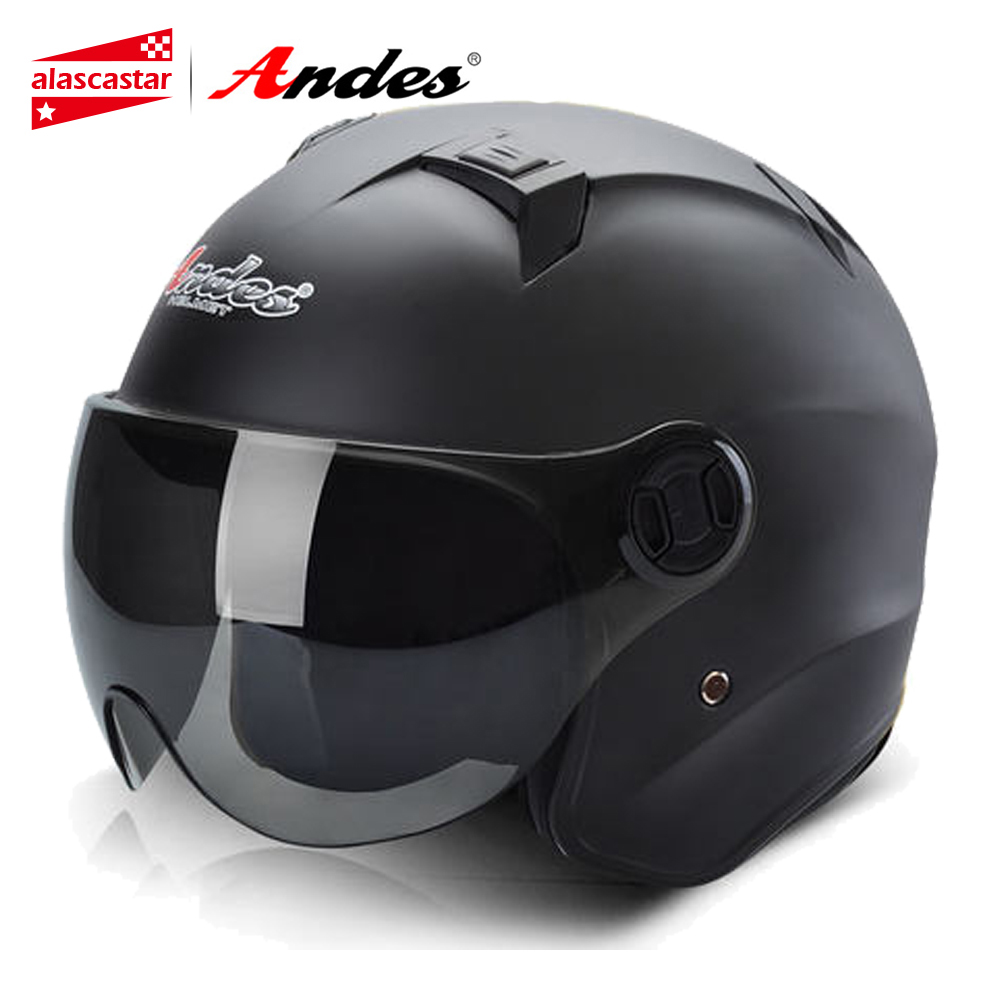 цена на Andes Motorcycle Helmet Motocross Helmet Summer Scooter 3/4 Open Face Motorbike Moto Helmets Flip Up Visor Lense for Men Women