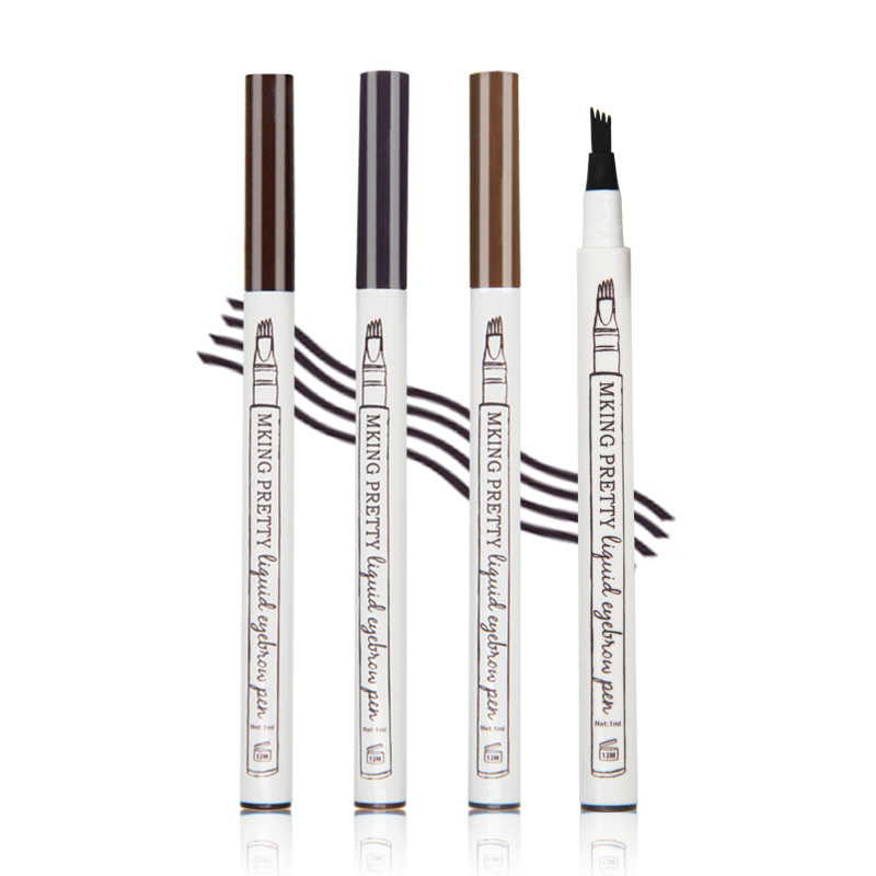New Liquid Eyebrow Tattoo Pen Waterproof Black Brown Eyebrow Enhancer Long Lasting Professional Women Makeup Product brow gel image