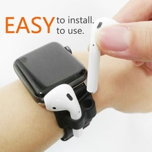 Portable Anti-lost Silicone Holder Strap for Wireless Earphone Carrying Case Airpods Headphone Fixed N