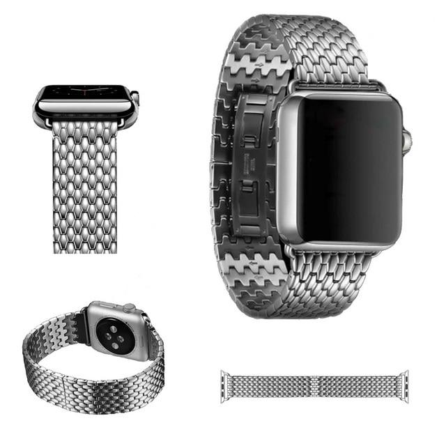 URVOI новая ссылка браслет для apple watch band серии 1 2 высококачественная нержавеющая сталь брони iwatch ремешок с butterfly закрытие