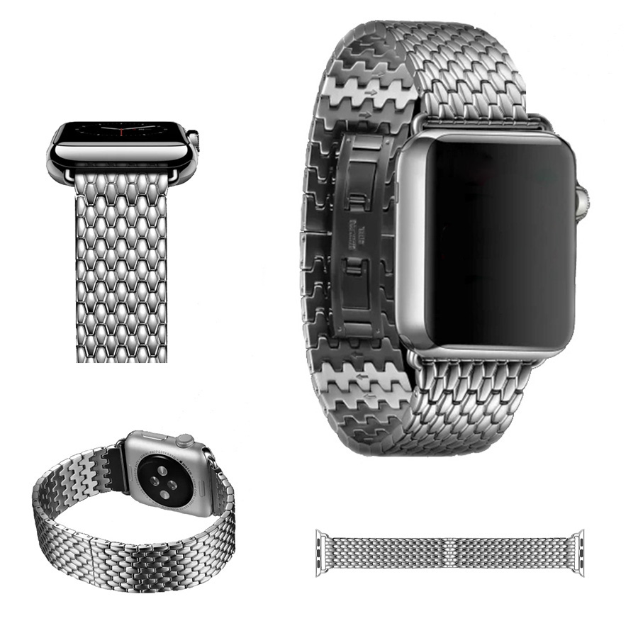 URVOI new link bracelet for apple watch band series 1 2  high quality stainless steel armour strap for iwatch butterfly closure wholesale price high quality fashion high quality stainless steel watch band straps bracelet watchband for fitbit charge 2 watch