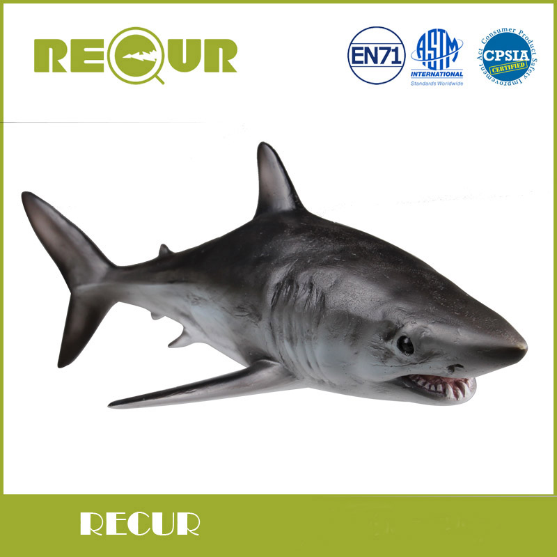 Recur Toys Mako Shark Marine Animal Model Hand Paind Soft PVC Sea Life Animal Action & Toys Figure For Kids Early Education recur toys high quality horse model high simulation pvc toy hand painted animal action figures soft animal toy gift for kids