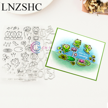 TOADALLY Metal Cutting Dies Stencils and Clear stamps DIY Scrapbooking Paper Cards Album Decoration Decoration Craft Dies image