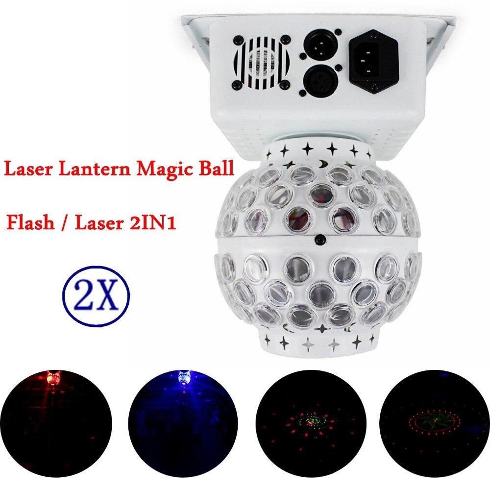 Mini Size 2Pcs/Lot RGBW CREE LED Crystal Magic Ball Stage Effect Lighting Lamp Bulb Party Disco Club DJ Lights Show Lumiere цена