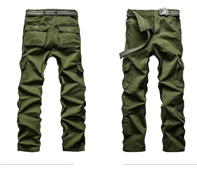 c1f58edbf32 New Style Spring Summer Men Casual Cargo Pants Overalls Multi-Pockets Loose  Breeches Men Workwear Leisure Khaki Casual Trousers