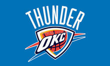Free Shipping NBA banner Basketball flag 3 * 5ft thunder team flags and banners