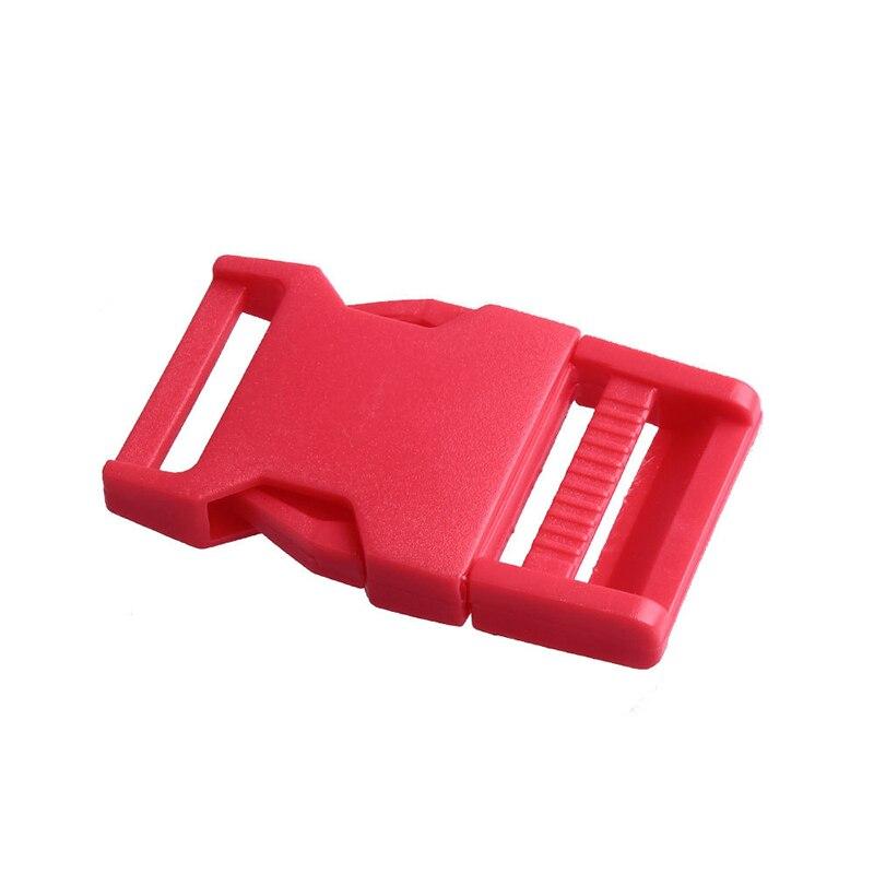 Лямки швейные инструменты собачьи ремни пряжки двойные регулируемые Крючки для рюкзака Высокое качество 1 шт. 25 мм популярная пластиковая пряжка безопасности - Цвет: Red