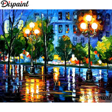 Dispaint Full Square/Round Drill 5D DIY Diamond Painting Oil painting house 3D Embroidery Cross Stitch Home Decor Gift A12372