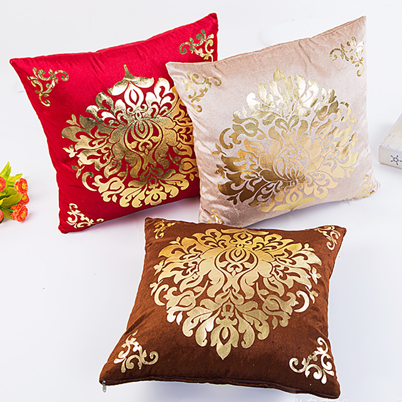 US $3.89 19% OFF|Cushions Home Decor Red Decorative Pillows Case 45x45cm  Sofa Vintage Plush Hot Stamping housse coussin Wholesale price-in Cushion  ...