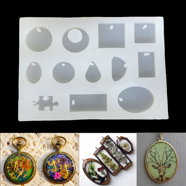 US $6 39 27% OFF|DIY Jewelry Tool Round Oval Square Rectangular Epoxy Mold  Transparent Silicone Mould Phone Case Decoration Tools Cake Molds Q006-in