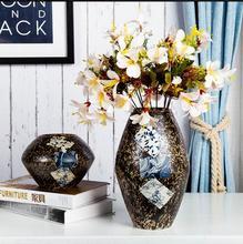 Tabletop vase flower jingdezhen ceramic handmade