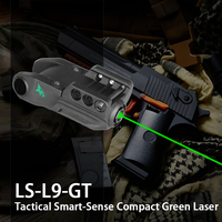 Intelligent Green Laser Pointer Air Gun Pistol Weapon Accessories Built In Rechargeable Battery Beretta 92Fs Laser Sight Glock