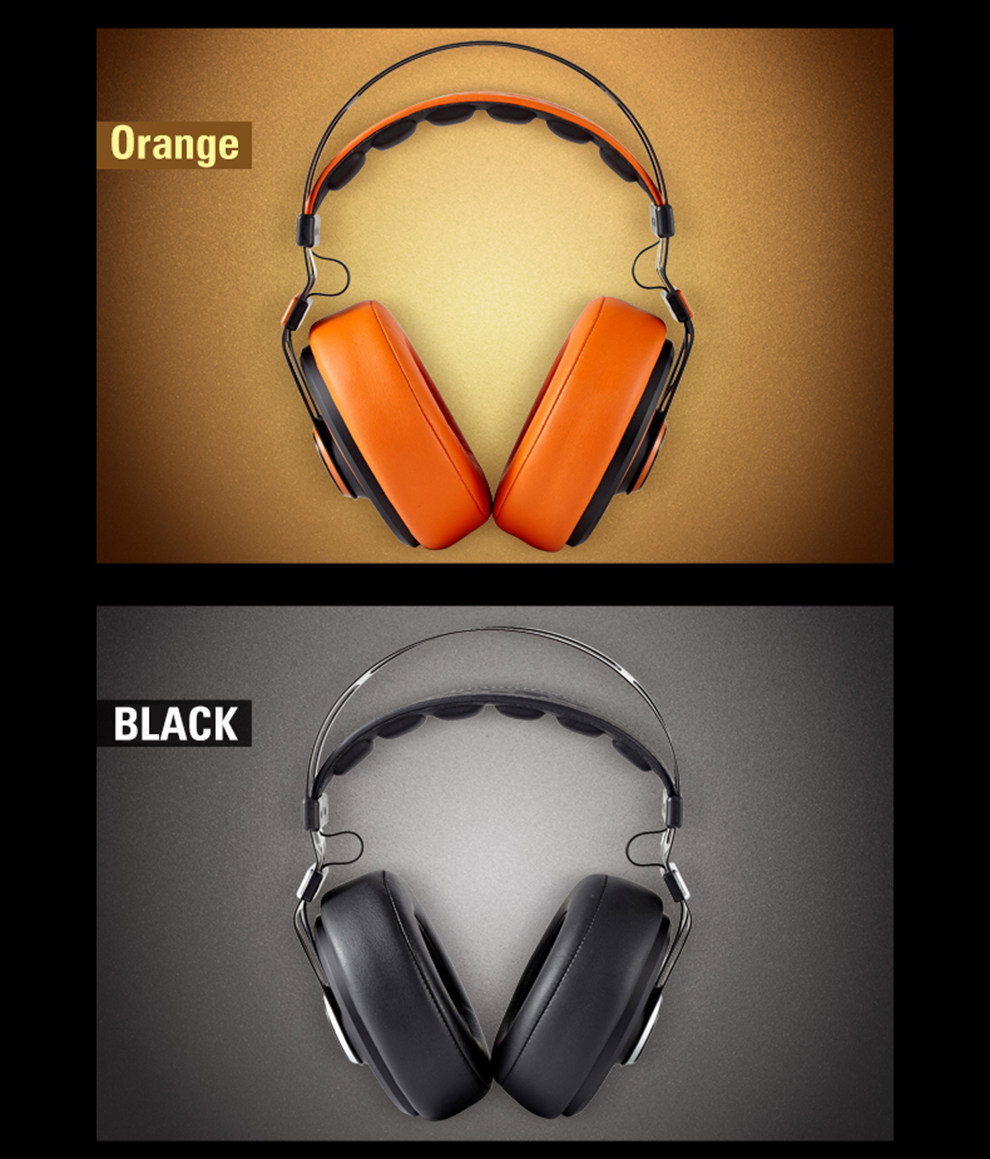 high quality noise cancelling over-head music PC MP3 player mobile phone headphone earphone black orange white -10