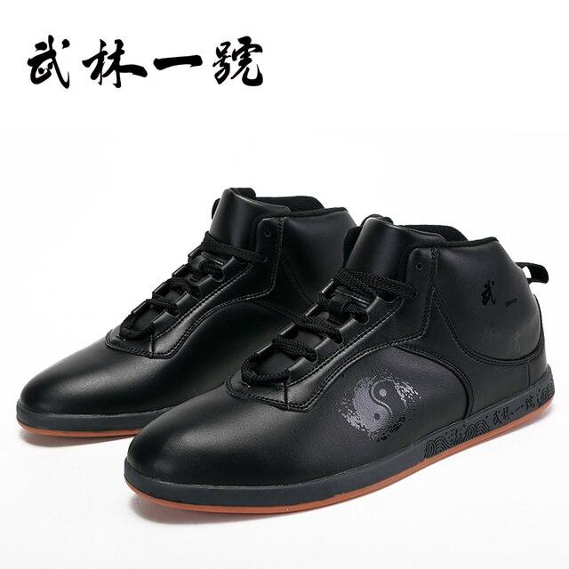 Для зима Натуральная кожа теплые Тай-Чи обувь Свет боевых искусств обувь Тонкие подошвы Термопластичный эластомер подошвы Примечание размер