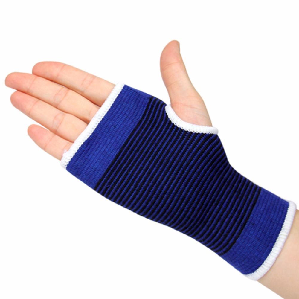 1pcs Adult Polyester Elastic Gym Sports Support Wrist Gloves Anti-slip Hand Palm Gear Care Brace Breathable Guard Protector