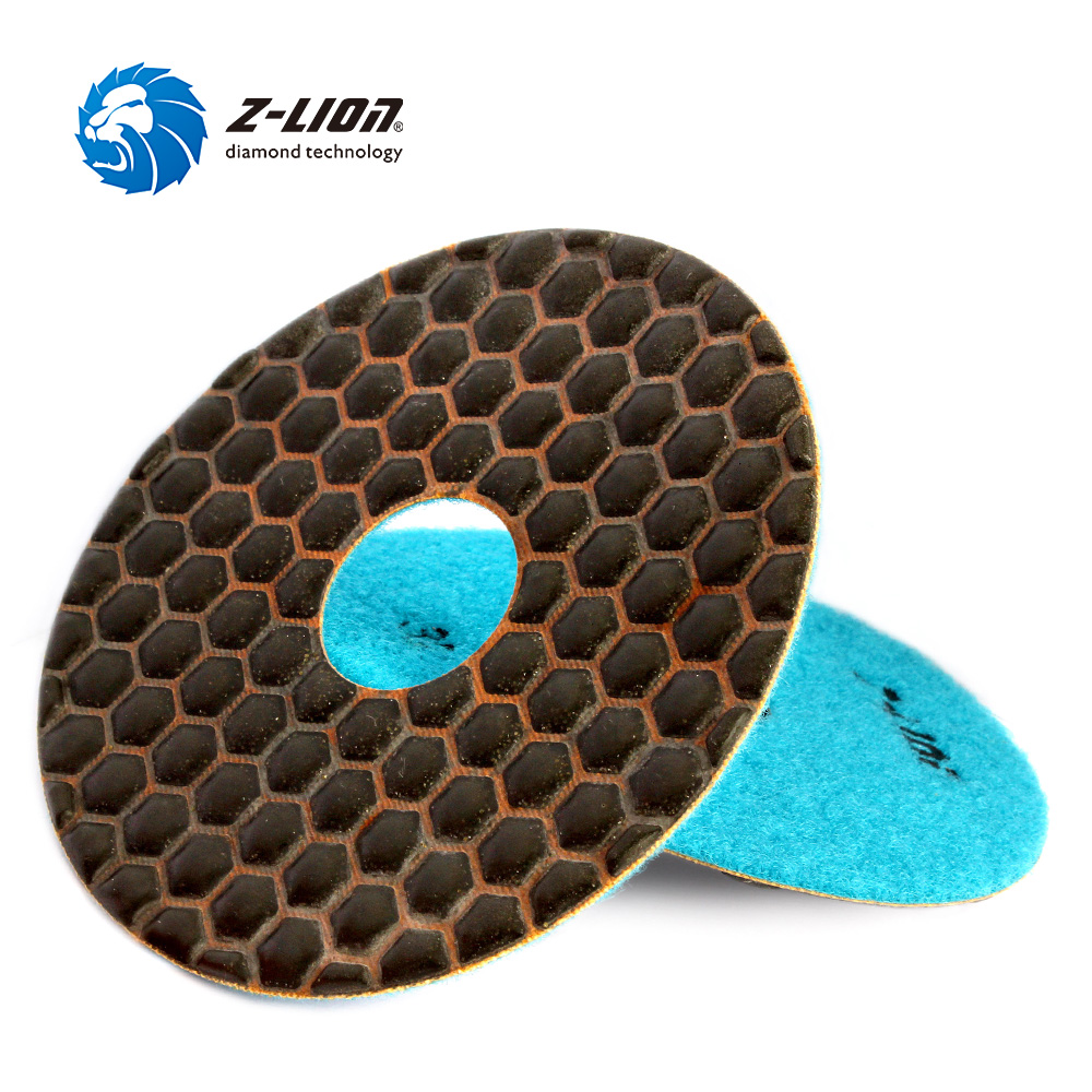 Z-LION 30# Grit 2 Pieces Dry Polishing Pads  5 Inch 125mm Coarse Grit Abrasive Pad For Granite Marble Stone Aggressive Grinding