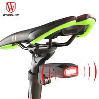 New Design 80mAh Waterproof COB USB Rechargeable Smart Bicycle Rear Light Led Intelligent Alarm Bicycle Taillights Light Alarm