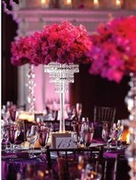 80cm Tall by 35cm Diameter Crystal Table Centerpiece 5 tiers Flower Stand Wedding Decoration