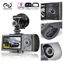 Chonchow двойной тире Камера Видеорегистраторы для автомобилей X3000 R300 GPS Видеорегистраторы для автомобилей S автомобиля Камера видеорегистратор Регистраторы регистраторы приборной панели Портативный Регистраторы