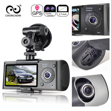 Dual Dash Camera Car DVR X3000 R300 with 2.7″ GPS Car DVRs Car Camera DVR Video Recorder Dash Cam Dashboard Portable Recorder