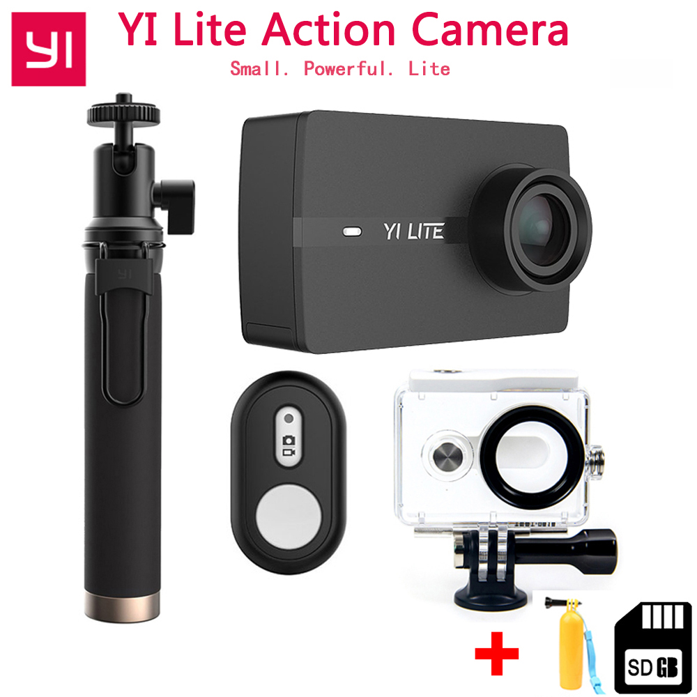 In Stock Xiaoyi YI Lite Action Camera Real 4K Sports Camera with Built-in WIFI 2 Inch LCD Screen 150 Degree Wide Angle Lens