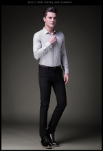 BOAO 2020 summer men's casual pants Cultivate one's morality pants Fashion elastic black trousers