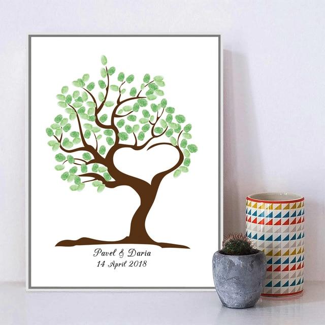 Freier Kundenspezifischer Name Datum Kreative Hochzeit Baum