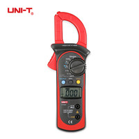 UNI T UT202 Digital Clamp Current Meter Multimeter Pinza Amperimetrica Ammeter Voltmeter Test Lead Temperature Probe AC DC Ohm