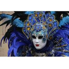 Настраиваемая Алмазная вышивка, женская маска, фотографии кристаллов 5d, сделай сам, алмазная живопись, перья, мозаика, стразы, ручная работа