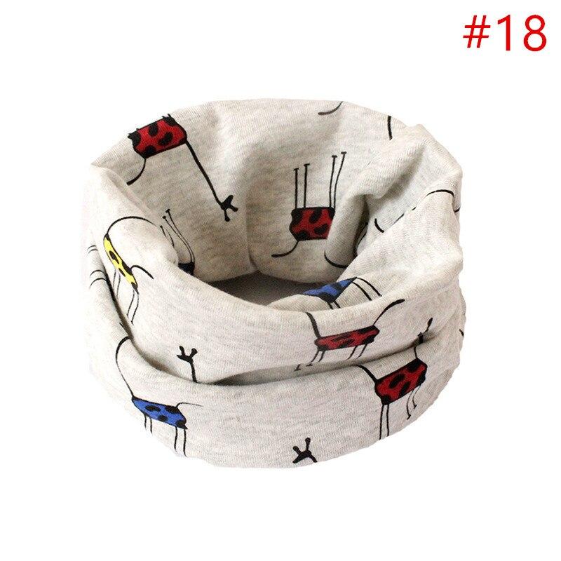 Детский хлопковый шейный шарф с милым принтом; детский теплый шарф; Детские воротники; осенне-зимний шарф-кольцо для мальчиков и девочек; аксессуары для детской одежды - Цвет: No.18