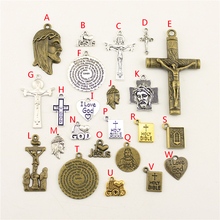 20Pcs Wholesale Bulk Jewelry Findings Components I Heart Jesus Diy Accessories Female HK177