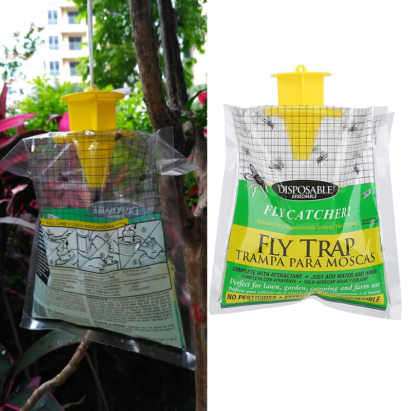Fly Trap Device With Traps Fly Control Pest Control Fly Disposable Outdoor Kill Fly Catcher With Insecticide Attractant Insect