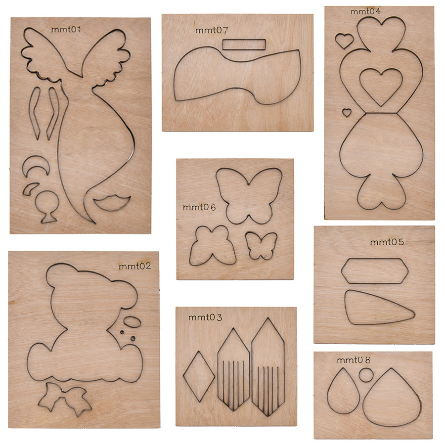 She Love New Metal Scrapbooking Leather Cutting Dies Animal Bear Toys Waterdrop Earring Cutting Mold Wooden Die Handmade Crafts