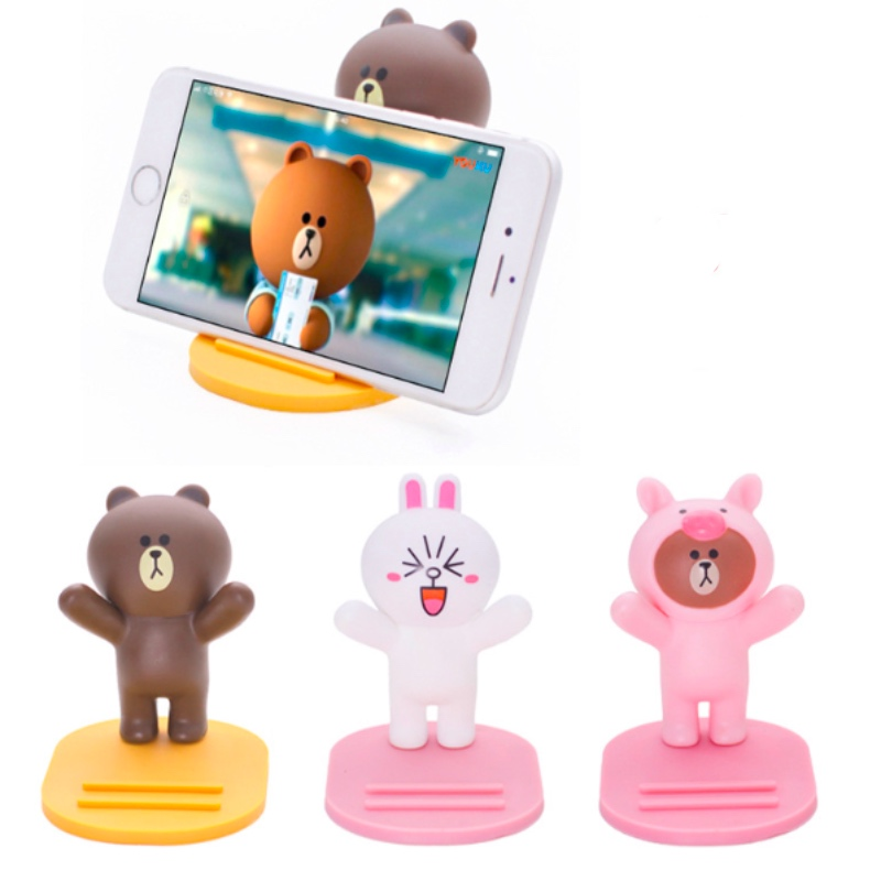 Abs Mobile Phone Holder Tables Phone Stand Cute Cat Baymax Cartoon Desk Support Smartphone Holder A Stands