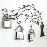 Все ручной работы в стиле ретро железное дерево клетка творческая гостиная настенная фоторамка сочетание