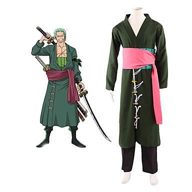 Anime One Piece Roronoa Zoro Cosplay Costumes Halloween Costume for Men Full Set Any Size for Party