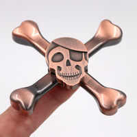 YARD MIni Skull Spinner Fidget Metal Anti Stress Head Spinners Metal Hand Spinner For Autism And