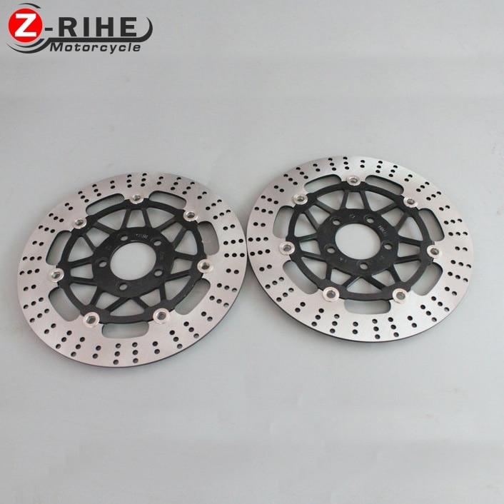 ZZR400 2PCS Front Floating Brake Disc Rotor motorcycle parts Aluminum  Brake Rotors For KAWASAKI ZZR400 ZXR400 ZRX400 ZZR250 2pcs motorcycle front floating brake disc rotor for kawasaki zzr400 1990 1991 1992 1993 1994 1995 1996 1997 1998 1999 zzr 400