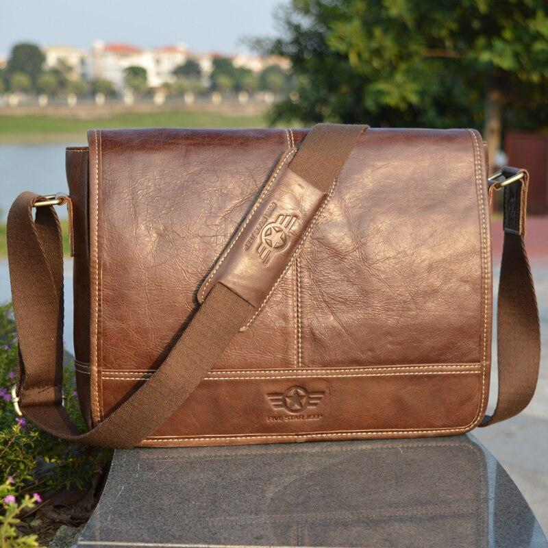 High Grade Brand REAL Genuine Leather men bag Vintage fashion shoulder bag Casual men messenger bags Business briefcase