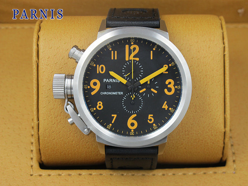 online buy whole 50mm watch from 50mm watch whole rs casual men s watch parnis 50mm military quartz watches relogio masculino movement chronograph calendar date wrist