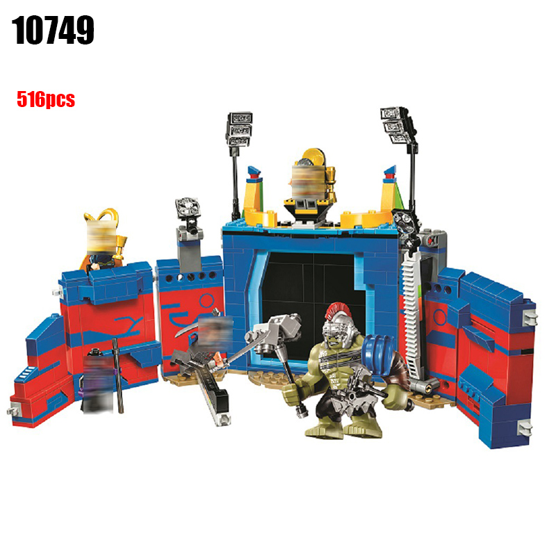 10749 Super Heroes Thor Vs. Hulk: Arena Clash building blocks DIY Educational bricks toys for children Compatible with 76088 heroes