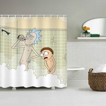 Cartoon Waterproof Shower Curtains Rick And Morty Naked Shower Curtain Bathroom Waterproof Polyester 3d Curtains For Bathroom cheap SoHotty hoMe Europe YL066 Eco-Friendly W150cm*L180cm W180cm*L200cm 350~400g Use as bathroom curtain window pannel or door