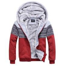 Velvet Sweatshirt Men New 2016 Couple Winter Sweatshirt Tide Slim Stitching Cashmere Sweatshirt Coat Hoodies Male Jacket