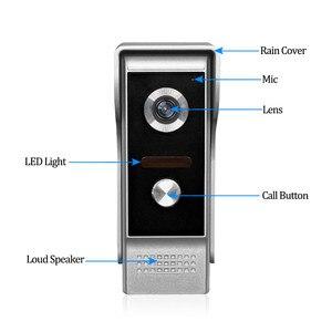 Image 5 - 7 TFT LCD Wired וידאו אינטרקום פעמון דלת טלפון מערכת לבית מקורה צג 700TVL IR חיצוני מצלמה מתכת 100 מטרים