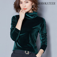 BOBOKATEER Casual Plus Size Women Clothing O Neck Black Long Sleeve T Shirt Tshirt T Shirt